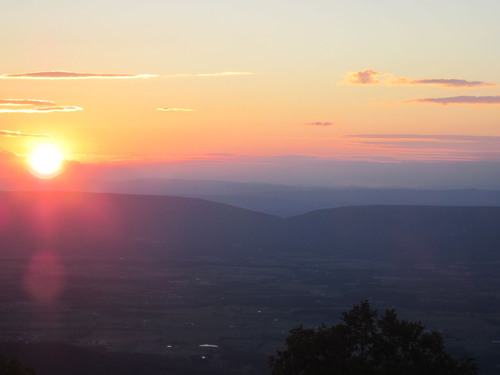 Vibrant sunset at Shenandoah National Park.  (PRNewsFoto/White+Partners)
