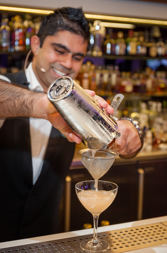 Shekhar excelled in the bar arena and enthralled judges with his signature serve inspired by this year's Mediterranean theme - French Royale - featuring CÎROC(R) Vodka (PRNewsFoto/Diageo Global Travel)