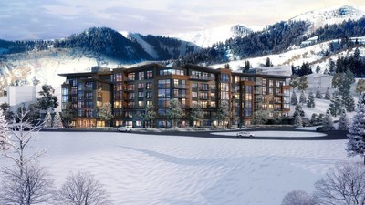 Rendering of the new slope side LIFT building at Park City's Canyons Village. LIFT is designed by OZ Architecture and developed by Replay Resorts.