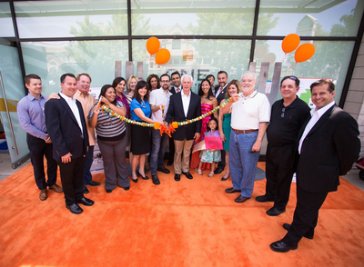 LYFE Kitchen's Executive Team with CEO Mike Roberts, Executive Chef Tal Ronnen along with Tarzana community and business leaders join the celebratory beginning of LYFE in Tarzana. Photo credit: Sam Trauben.