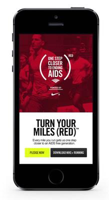 (RED) e Bank of America desafiam a comunidade da aptidão física global a participar ativamente da Turn Your Miles (RED), impulsionada pela Nike+