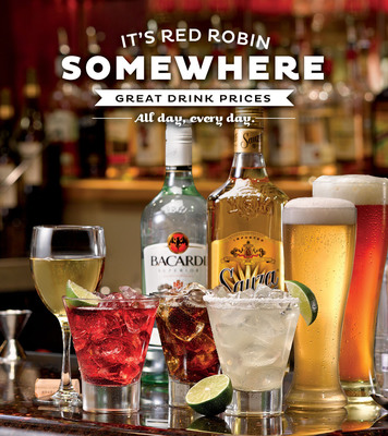 Red Robin repeals Happy Hour with new beverage program that offers great value on drinks all day, every day. (PRNewsFoto/Red Robin Gourmet Burgers, Inc.) (PRNewsFoto/RED ROBIN GOURMET BURGERS, INC.)