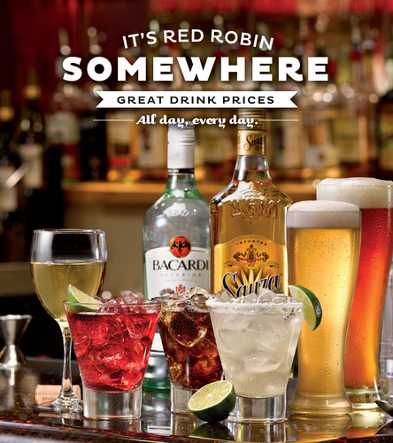 Red Robin repeals Happy Hour with new beverage program that offers great value on drinks all day, every day. ...