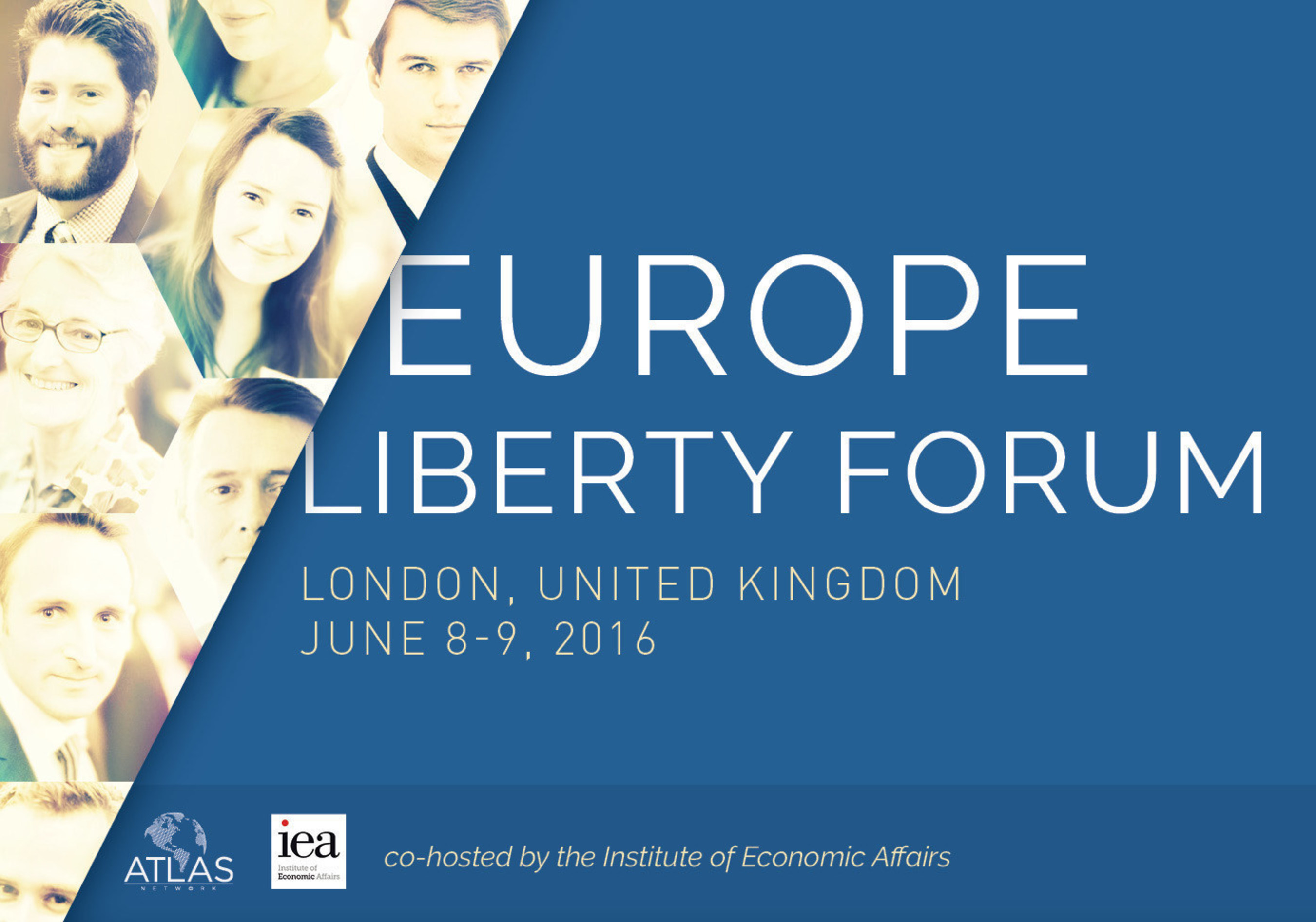 Europe Liberty Forum, #EuropeLF16, June 8-9, 2016, co-hosted by Atlas Network and the London-based Institute of Economic Affairs, is a gathering of the best and the brightest in Europe to discuss and exchange solutions that promote liberty and free-market reforms in the region.
