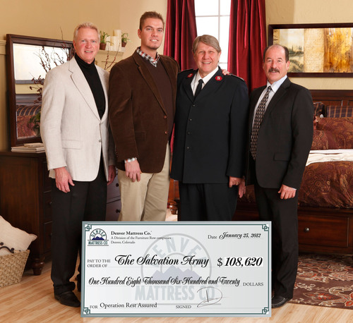 Denver Mattress Donates Over $108,000 To The Salvation Army
