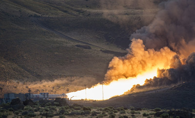 The second and final qualification motor (QM-2) test for the Space Launch System's (SLS) booster is seen, Tuesday, June 28, 2016, at Orbital ATK Propulsion Systems test facilities in Promontory, Utah. During the SLS flight the boosters will provide more than 75 percent of the thrust needed to escape the gravitational pull of the Earth, the first step on NASA's Journey to Mars.