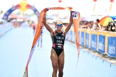 Professional triathlete Renee Tomlin