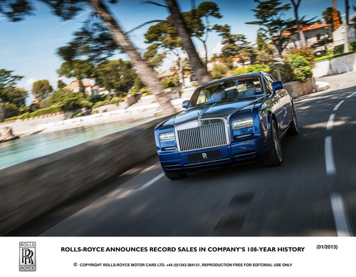 Rolls-Royce Announces Record Sales In Company's 108-Year History
