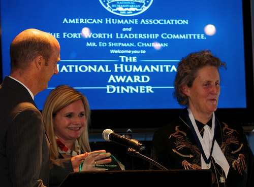 American Humane Association Awards National Humanitarian Medal to Temple Grandin for Pioneering