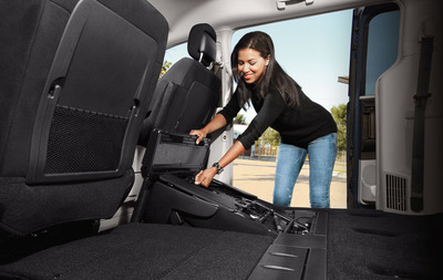 Stow n Go seats are available in the 2013 Dodge Grand Caravan in Topeka KS at Briggs Dodge.  (PRNewsFoto/Briggs Dodge)