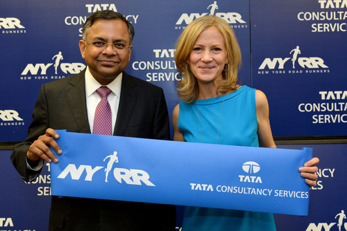 New York Road Runners and TCS Sign Premier Partnership and Title Sponsorship of New York City Marathon.  (PRNewsFoto/Tata Consultancy Services)