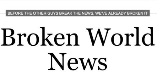 Just Like The News, Only Better.  (PRNewsFoto/Broken World News)