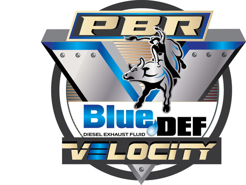 PEAK's BlueDEF(R) Diesel Exhaust Fluid teams up with the Professional Bull Riders as Velocity Tour title sponsor.  (PRNewsFoto/Old World Industries)
