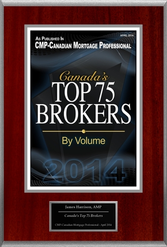 "James Harrison Selected For ""Canada's Top 75 Brokers"" (PRNewsFoto/American Registry)"