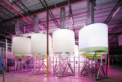 2011 Solatube ICE Awards winner Algae to Omega, which used Solatube Daylighting Systems to bring daylighting to large algae tanks to promote growth.  (PRNewsFoto/Solatube International Inc.)