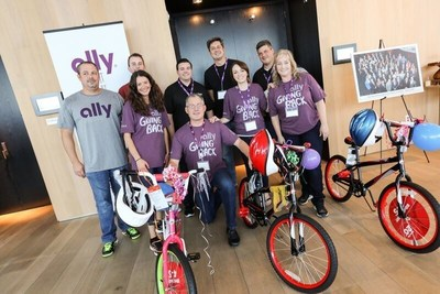 Ally team members and auto dealers assembled bikes for kids in Miami.
