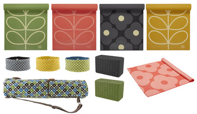 Gaiam's limited edition Orla Kiely yoga mats and accessories.
