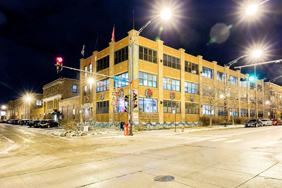 An after shot of the Lillstreet Art Center in Chicago, Illinois, that was decorated on behalf of Glade(R) to help spark feelings of joy this holiday season on Sunday, November 22, 2015. (Jeff Schear/Getty Images for SC Johnson)