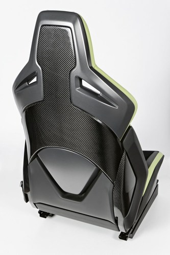 Because of its backrest made out of carbon, the weight of the Recaro Sport Seat Platform could be reduced significantly compared to conventional car seats. This was one of the arguments, which convinced the jury of the Plus X Award. (PRNewsFoto/Recaro Automotive Seating) (PRNewsFoto/Recaro Automotive Seating)
