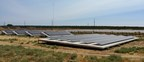 Solar panels sit in their racks at a test site as part of new DNV GL standardized testing of mounting system installation services. (PRNewsFoto/DNV GL)