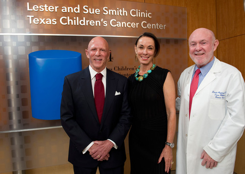 Texas Children's Cancer Center announces naming of clinic in honor of Lester and Sue Smith