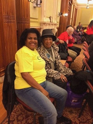 Compassion & Choices DC Legislative and Field Manager Donna Smith, DC Council on Aging Ward 5 Chair Romaine Thomas