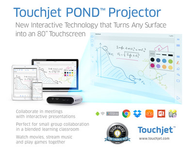 Touchjet's products are designed to bring people together through shared experiences. On April 21, the company was named a 2016 Gold Edison Award winner for it's Touchjet Pond Projector.