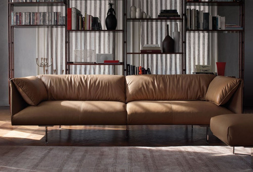 """As seductive to the touch as it is to the eye."" A Poltrona Frau leather couch is like having a Ferrari in your living room.  (PRNewsFoto/Arkitektura Consortium Showrooms)"