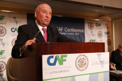 Enrique Garcia, Executive President of CAF - development bank of Latin America - at the XVII Annual CAF Conference in Washington, D.C. Sept. 4 and 5, 2013.  (PRNewsFoto/CAF-Development Bank of Latin America)