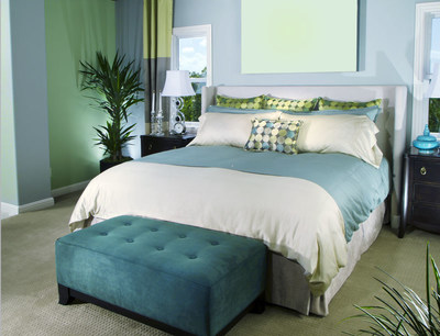 The latest trend in interior paint color is the use of lighter hues, especially off-whites, and soft, relaxing blues and greens, according to color experts at the Paint Quality Institute.