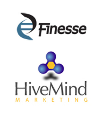Finesse and HiveMind work together to build a new website.  (PRNewsFoto/HiveMind Marketing, Inc.)