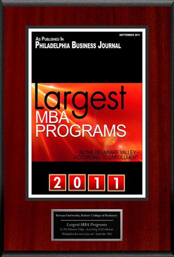 "Rowan University Selected For ""Largest MBA Programs.""  (PRNewsFoto/American Registry)"