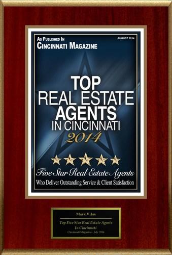 "Mark Vilas Selected For ""Top Five Star Real Estate Agents In Cincinnati"" (PRNewsFoto/American Registry)"