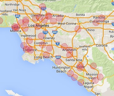 Los Angeles coverage map
