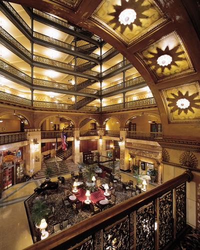 Brown Palace Atrium, Credit VISIT DENVER.  (PRNewsFoto/VISIT DENVER, The Convention & Visitors Bureau)