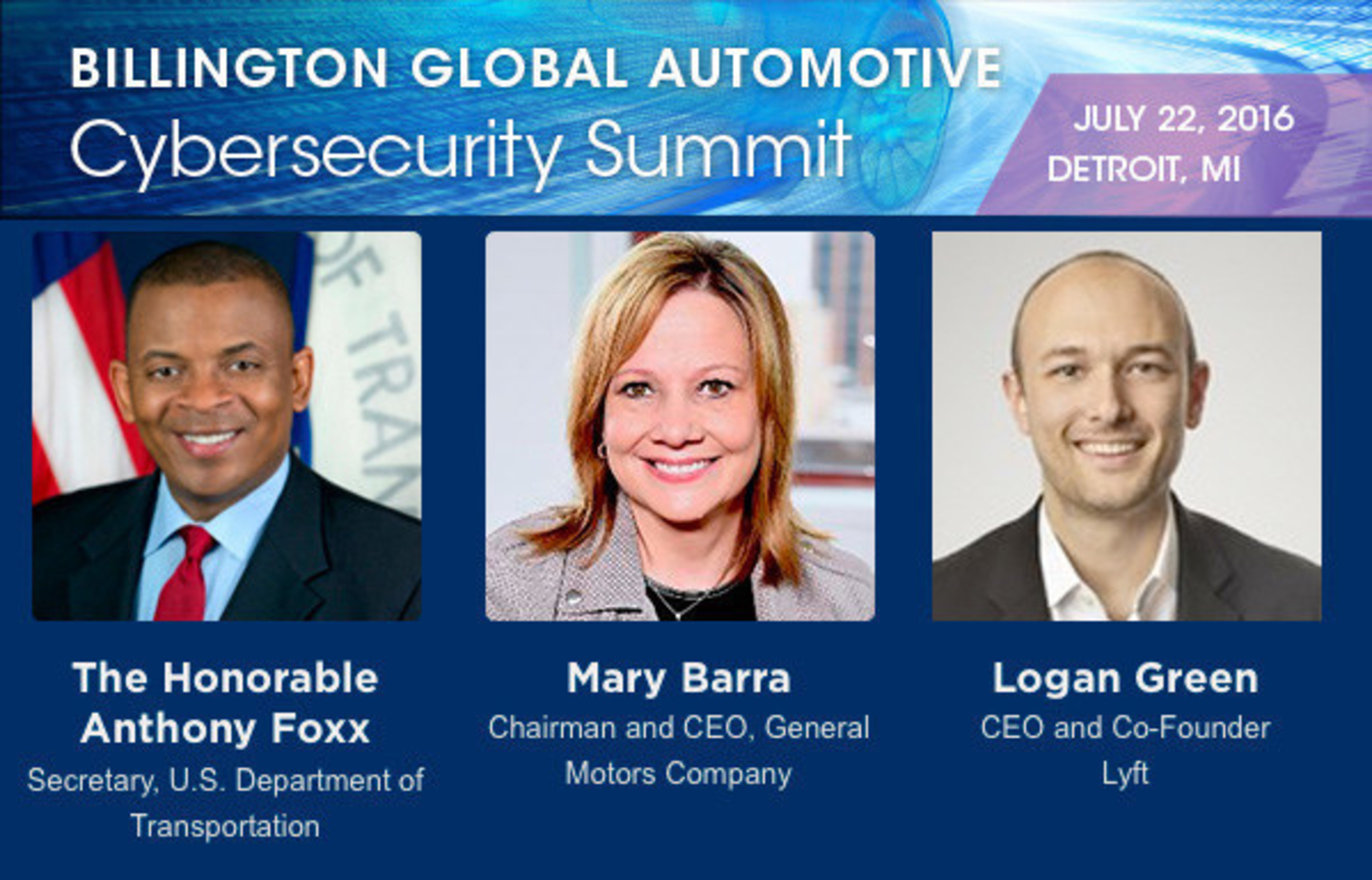 Billington Automotive Cybersecurity Summit to Focus on Cyber Best Practices for Connected and Autonomous Vehicles