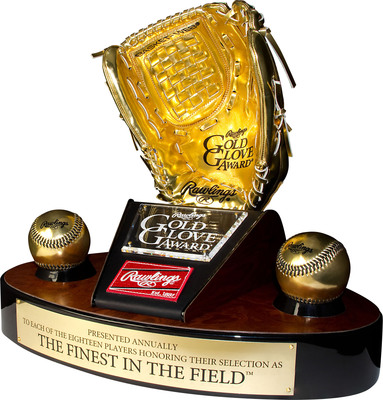 Rawlings Gold Glove Award(R) New Sabermetric Component Revealed; sabermetric experts construct new SABR Defensive Index(TM) to join managers and coache' votes starting with upcoming 2013 Rawlings Gold Glove Award selection process. (PRNewsFoto/Rawlings) (PRNewsFoto/)