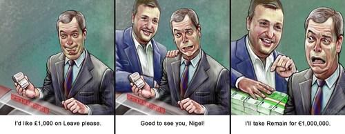Tony G challenges Nigel Farage to a 1 million Euro charity bet (PRNewsFoto/TonyBet.com)