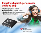 TI introduces the industry's highest-performance audio operational amplifier