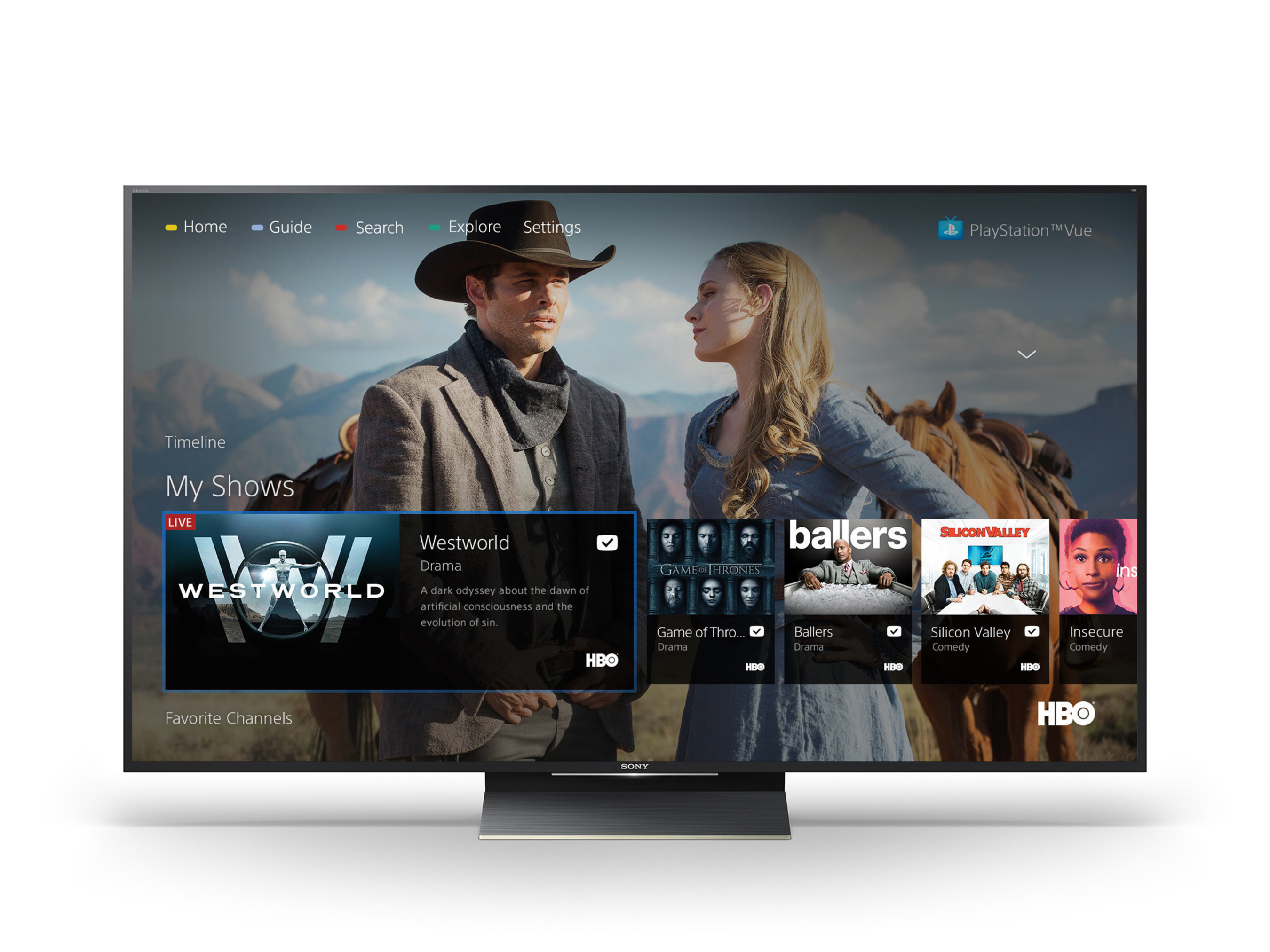PlayStation Vue Now Available on Sony's Android TVs