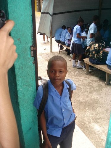 Young student in Haiti benefiting from Architecture for Humanity's work. (PRNewsFoto/Architecture for ...