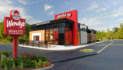 """Wendy's new """"Image Activation"""" restaurants feature bold, """"ultra-modern"""" designs that greatly enhance the customer experience, including lounge seating with fireplaces, flat-screen TVs, Wi-Fi and digital menuboards.(PRNewsFoto/The Wendy's Company)"""