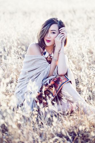 Chriselle Lim of The Chriselle Factor modeling PANDORA Jewelry (PRNewsFoto/PANDORA Jewelry)