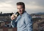 David Beckham raises a toast to travellers. Photo credit: Tom Bunning