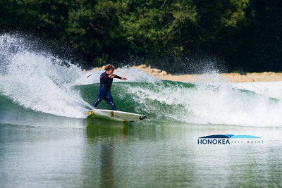 """Professional surfer Dane Reynolds tests the Wavegarden Spain installation. Reynold says, """"The speed of the wave is perfect!"""""""