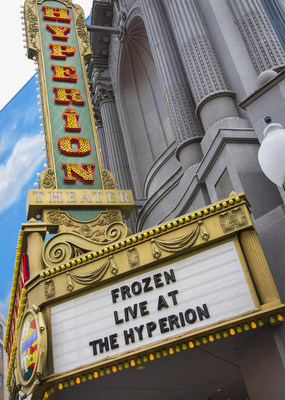 "'FROZEN  - LIVE AT THE HYPERION' (March 4, 2016) - ""Frozen - Live at the Hyperion,"" a new musical based on the Walt Disney Animation Studios film ""Frozen,"" will open at the Hyperion Theater at Disney California Adventure Park on May 27, 2016. The new musical at the Disneyland Resort will immerse audiences in the emotional journey of Anna and Elsa in an entertaining musical adaptation that includes elaborate costumes and sets, special effects, new technologies, show-stopping production numbers and unique theatrical surprises. (Paul Hiffmeyer/Disneyland Resort)"