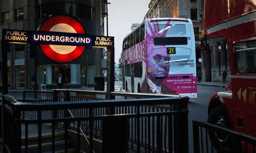 T-Systems Launches First Ever London Bus Advertising Campaign (PRNewsFoto/T-Systems)