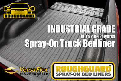 ROUGHGUARD(TM) XT is a 100% pure polyurea spray on truck bed liner system from VersaFlex(R) Incorporated, the leading polyurea brand in the world. (PRNewsFoto/VersaFlex Incorporated)