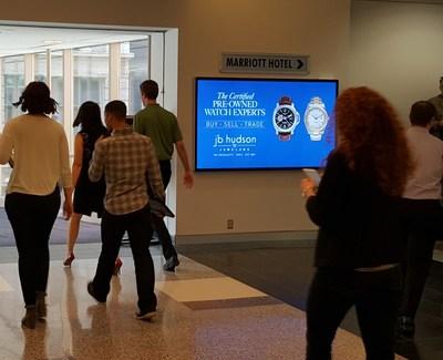 ON Smart Media Liveboards in Minneapolis skyway.