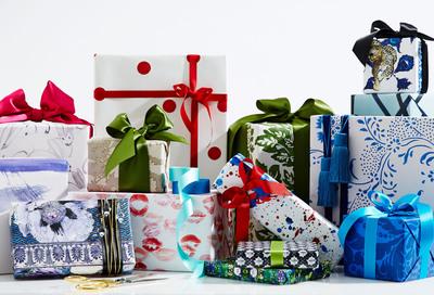 One Kings Lane Designer Series Gift Wrap Collection. (PRNewsFoto/One Kings Lane) (PRNewsFoto/ONE KINGS LANE)